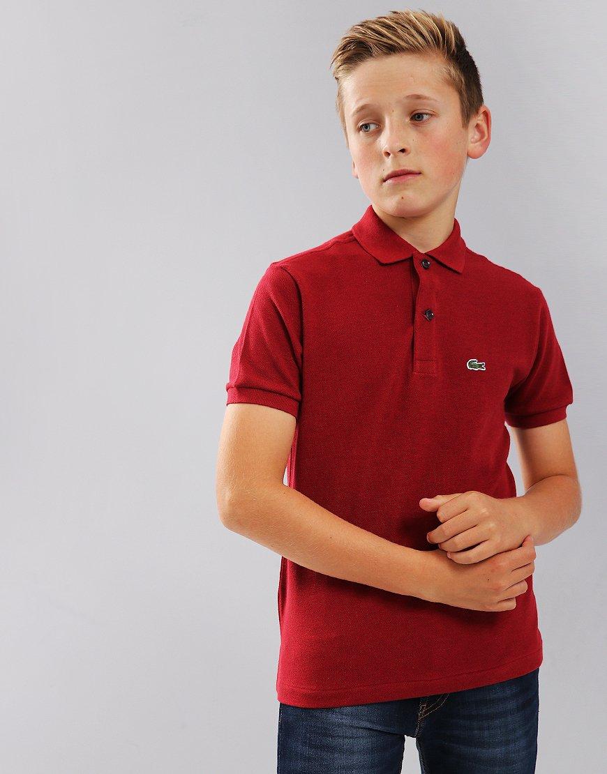 Lacoste Kids Plain Polo Shirt Passion Chine