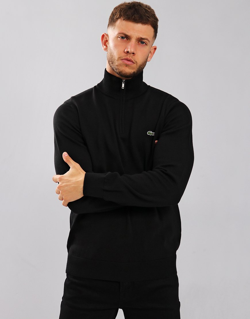 Lacoste Half Zip Knit Black