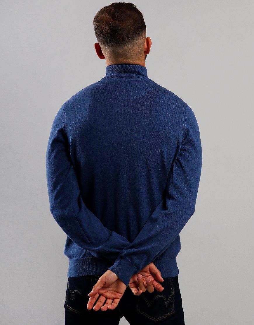 Lacoste Knit Half Zip Sweat Alby Chine/Flour/Navy