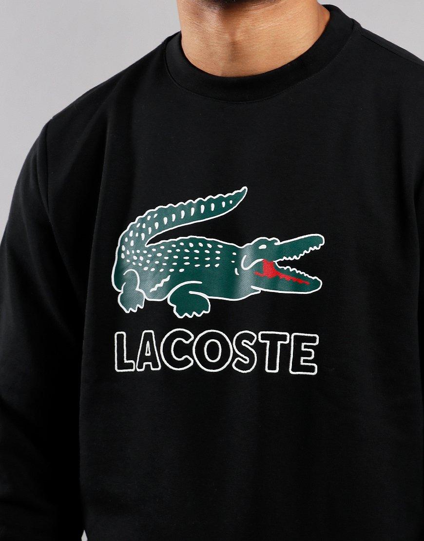 Lacoste Logo Crew Sweat Black