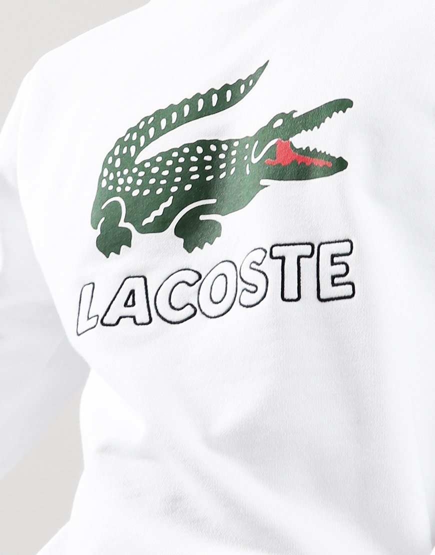 Lacoste Logo Crew Sweat White