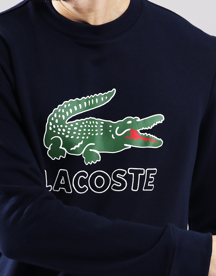 Lacoste Logo Crew Sweat Navy Blue