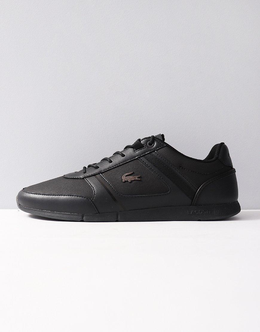 Lacoste Menerva 318 Leather Trainers Black
