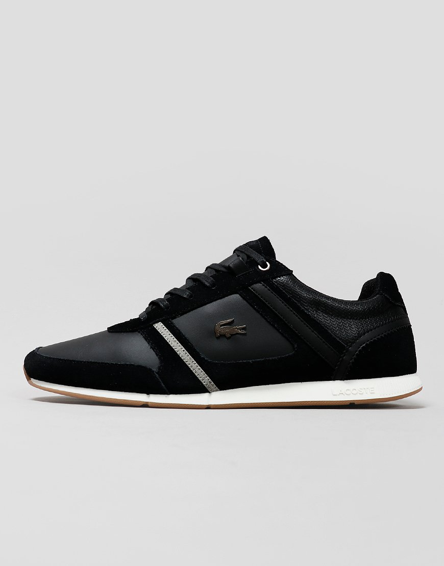 Lacoste Menerva 319 Leather Trainers Black/Khaki