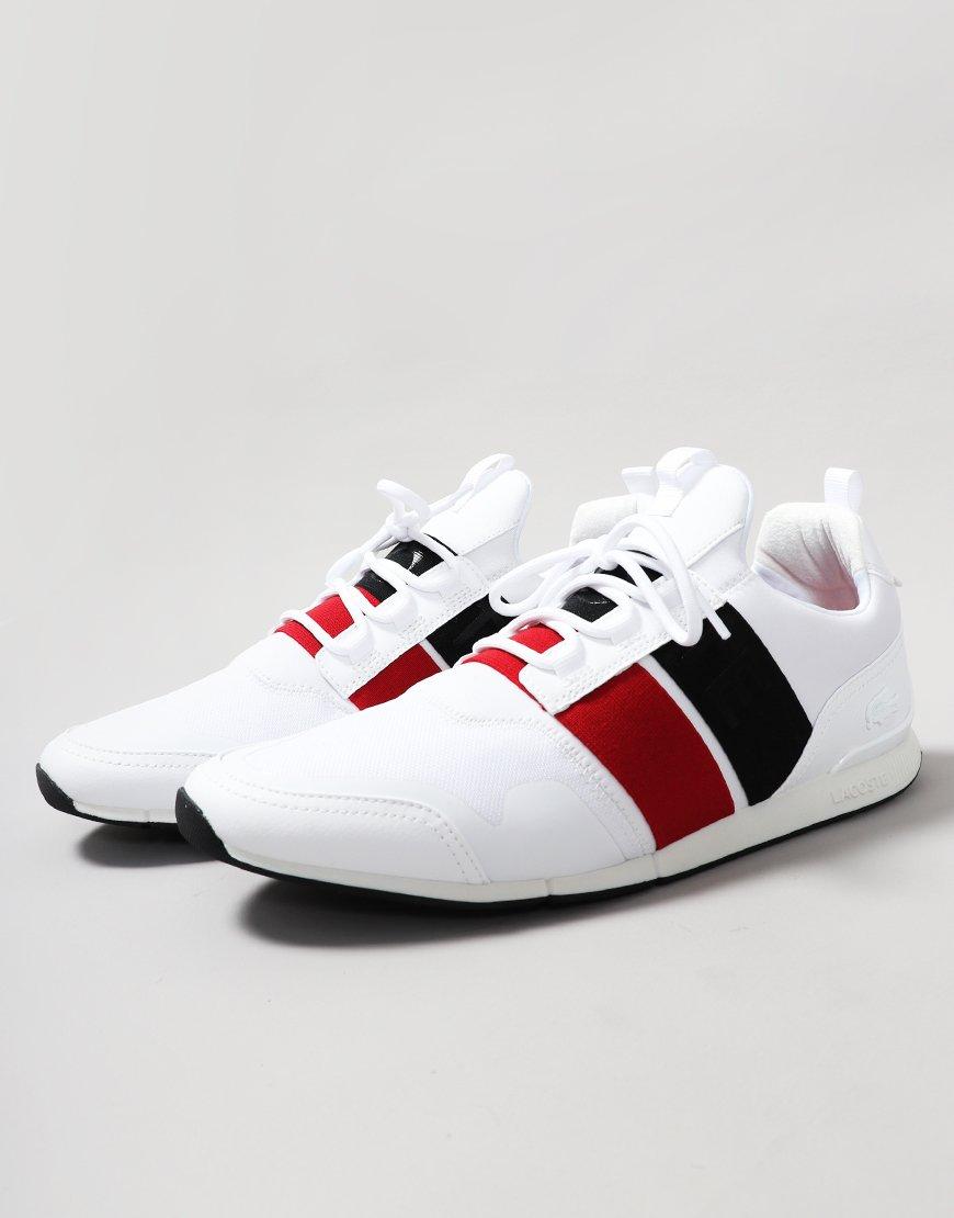Lacoste Menerva Elite Leather Trainers White