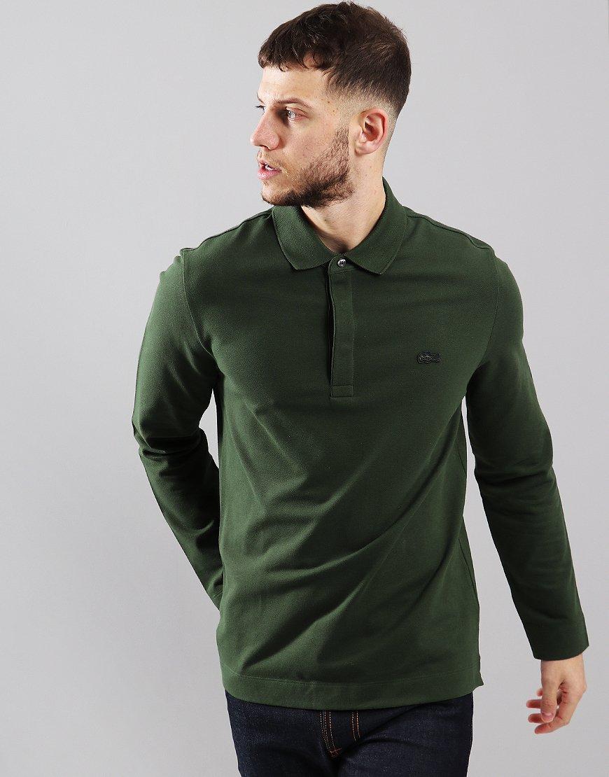 Lacoste Paris Long Sleeve Polo Shirt Caper
