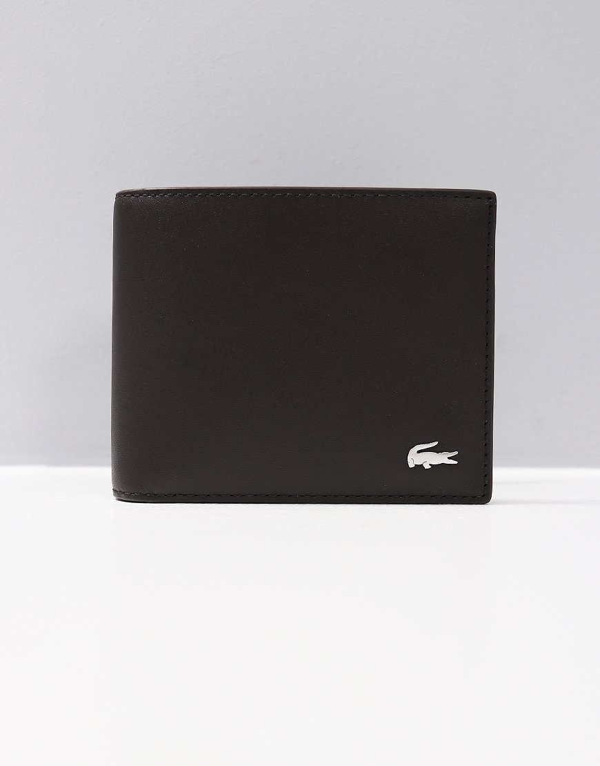 Lacoste Small Billfold Wallet Dark Brown