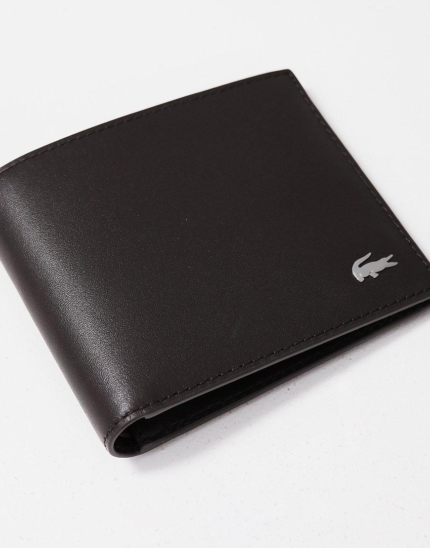 Lacoste Small Billfold Wallet Dark Brown