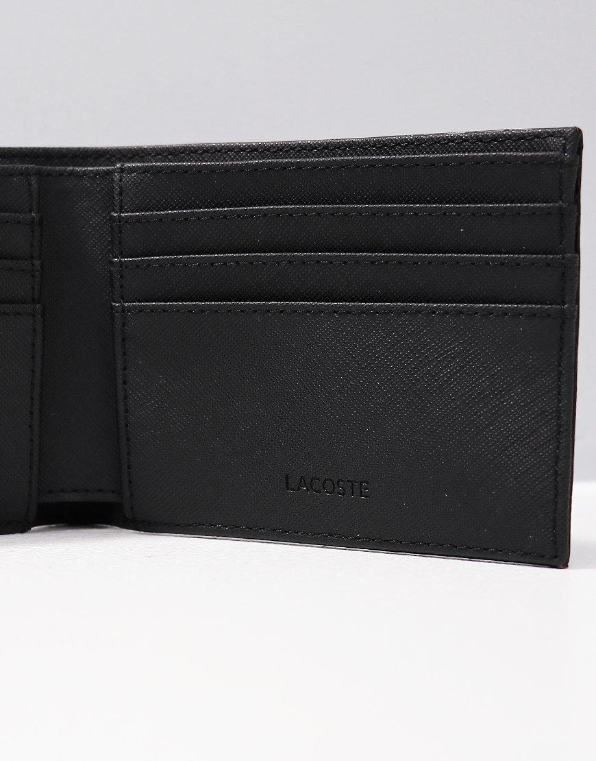 1d4b27fa6b0d Lacoste Small Textured Billfold Wallet Black - Terraces Menswear