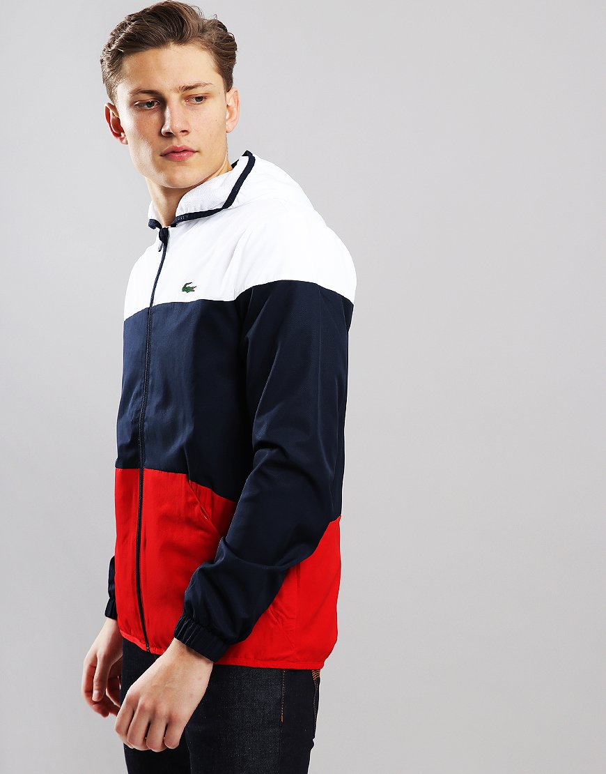 Lacoste Colour Block Jacket White/Navy/Red