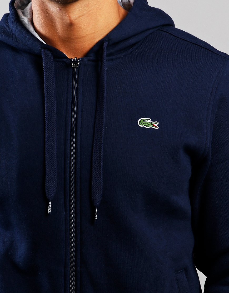 Bluesilver Sweat Lacoste Zip Sport Hooded Navy lKJFc13T