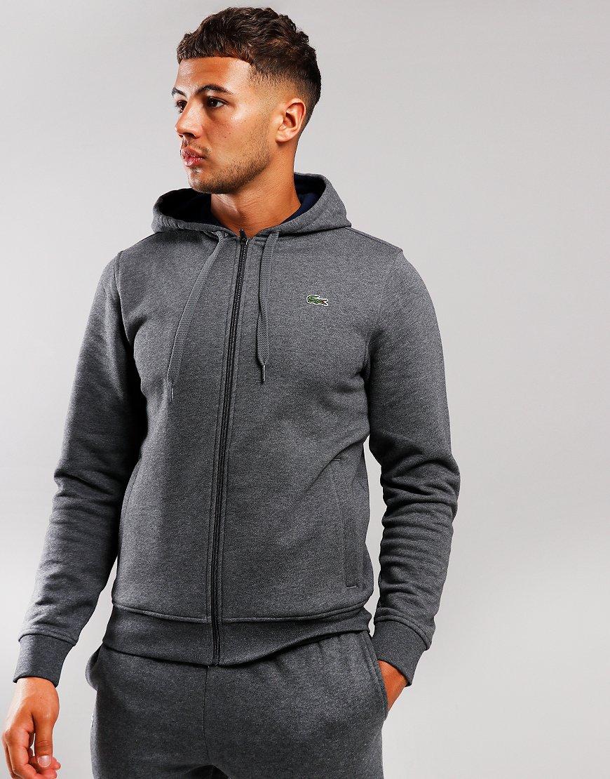 Lacoste SPORT Hooded Zip Sweat Pitch/Navy
