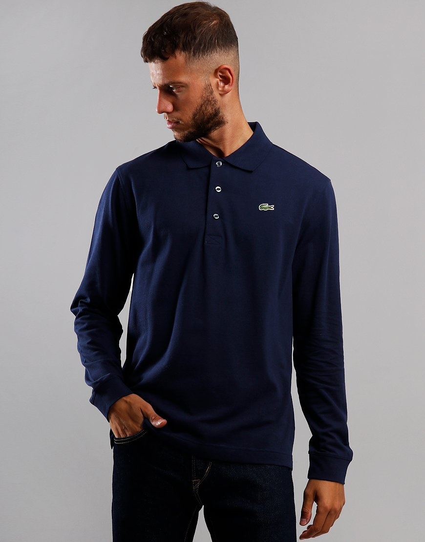 Lacoste Sport Long Sleeve Polo Shirt Navy Blue
