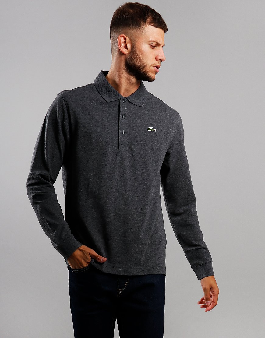 Lacoste Sport Long Sleeve Polo Shirt Pitch Chine