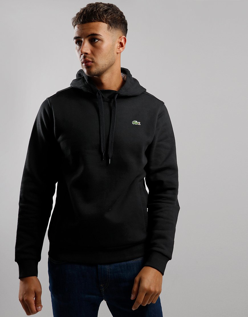 Lacoste SPORT Pullover Hooded Sweat Black/Silver Chine