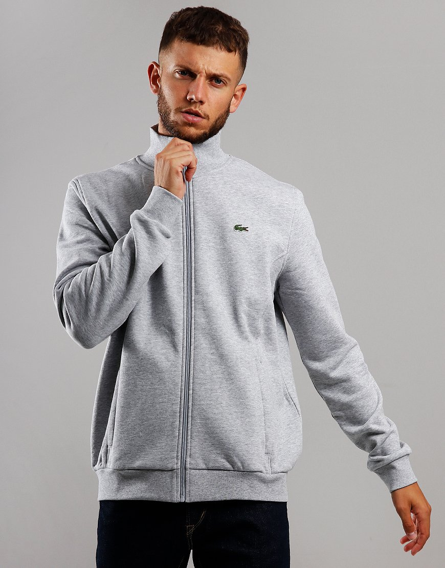Lacoste Sport Zip Through Fleece Silver Chine