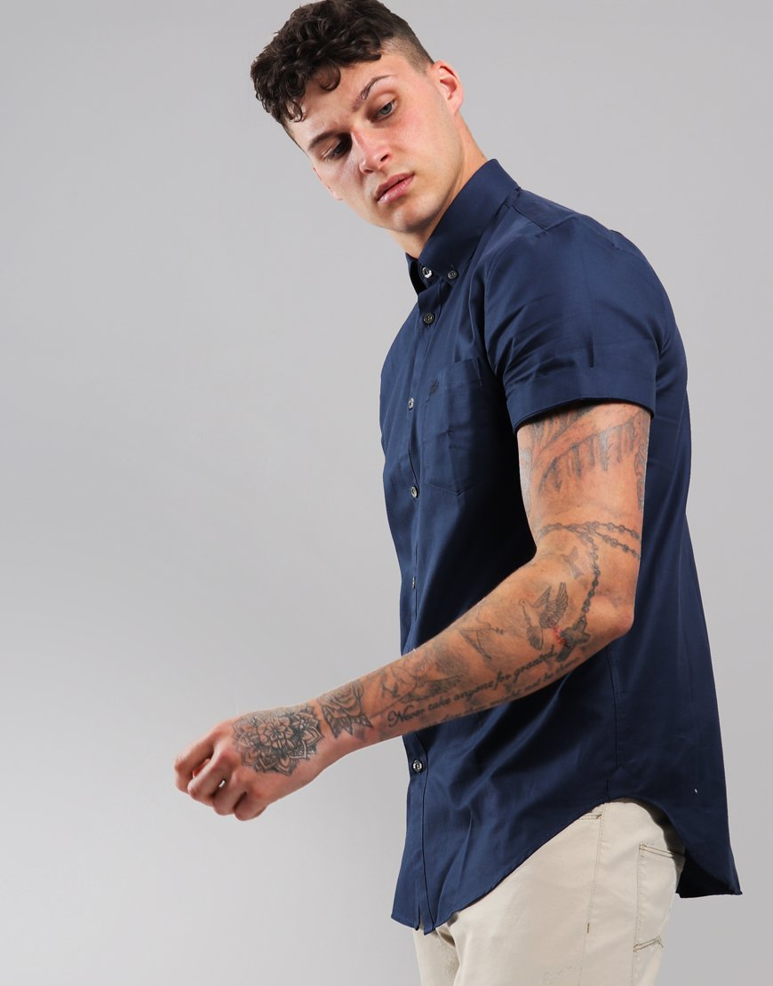 Lacoste Woven Shirt Navy Blue