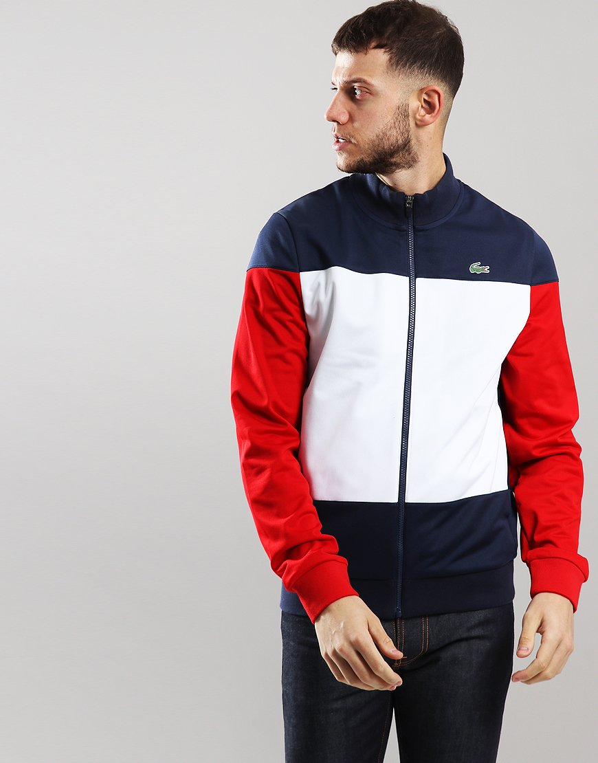 Lacoste Sport Colour Block Track Top Navy Blue