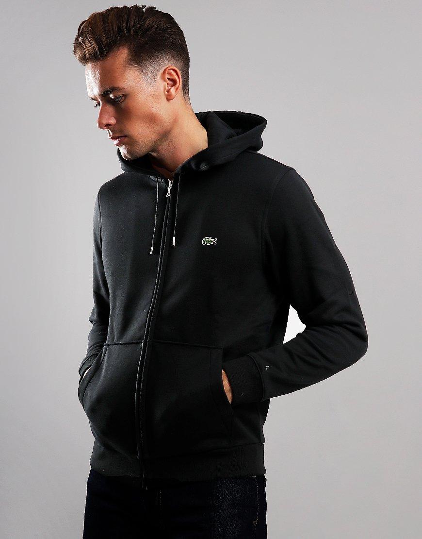 Lacoste Full Zip Hooded Sweat Black