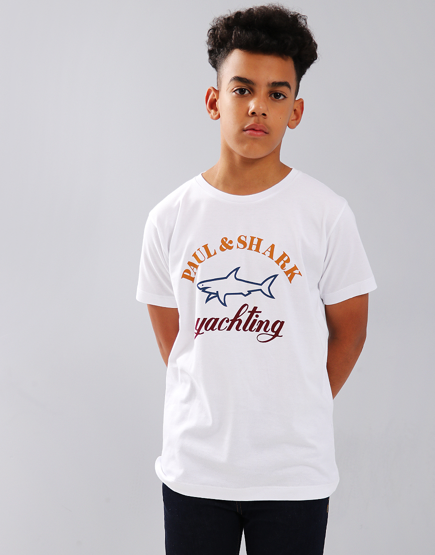 Paul & Shark Cadets Yachting Print Crew Neck T-Shirt White