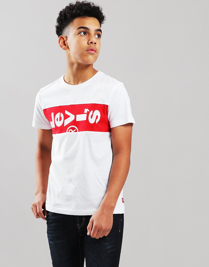 Levi Kids Xlazytab T-Shirt White