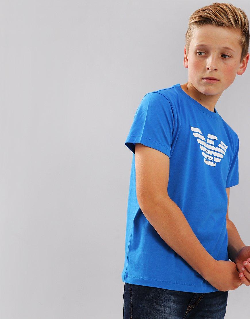 Armani Junior Logo T-Shirt Bluette