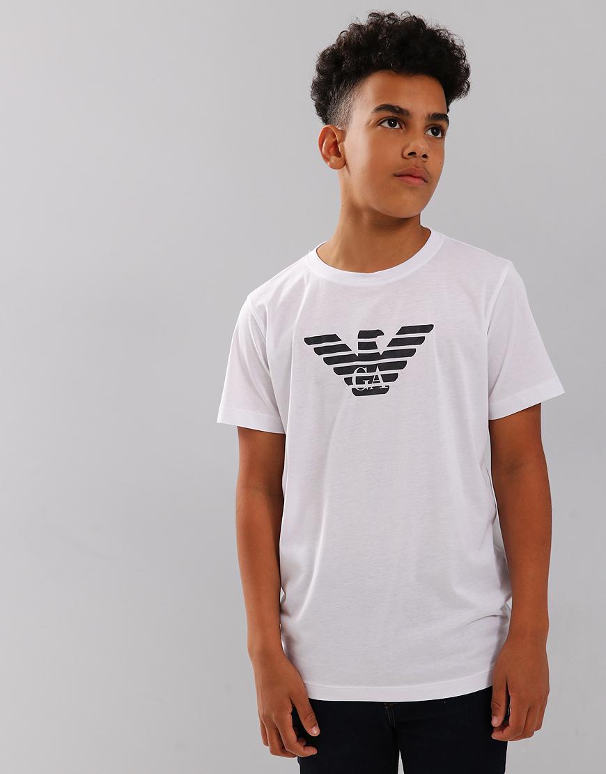 Armani Junior Logo T-Shirt White