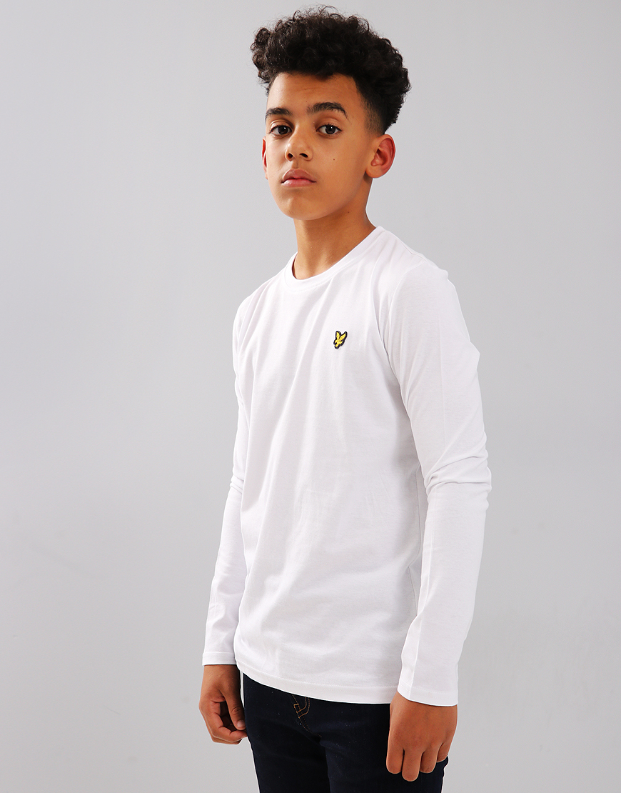 Lyle & Scott Junior Long Sleeved Classic T-Shirt Bright White