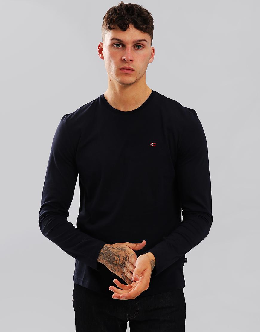 Napapijri Senoos Long Sleeve Crew Neck T-Shirt Blu Marine