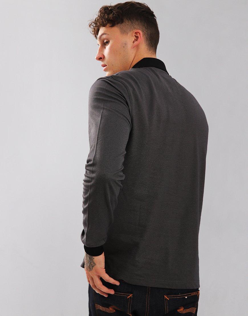 Luke 1977 Billiam Long Sleeve Polo Shirt Marl Black