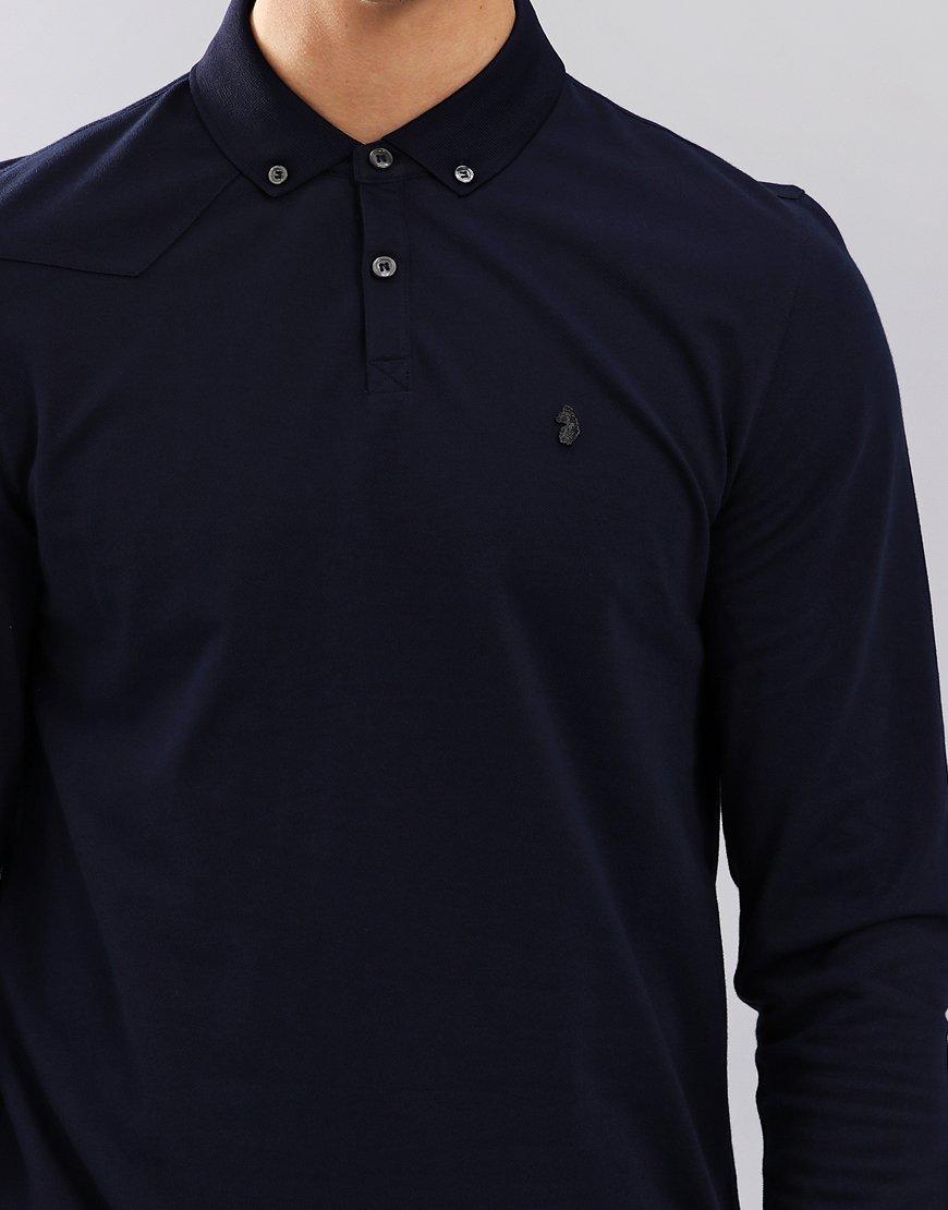 Luke 1977 Billiam Long Sleeve Polo Shirt Navy