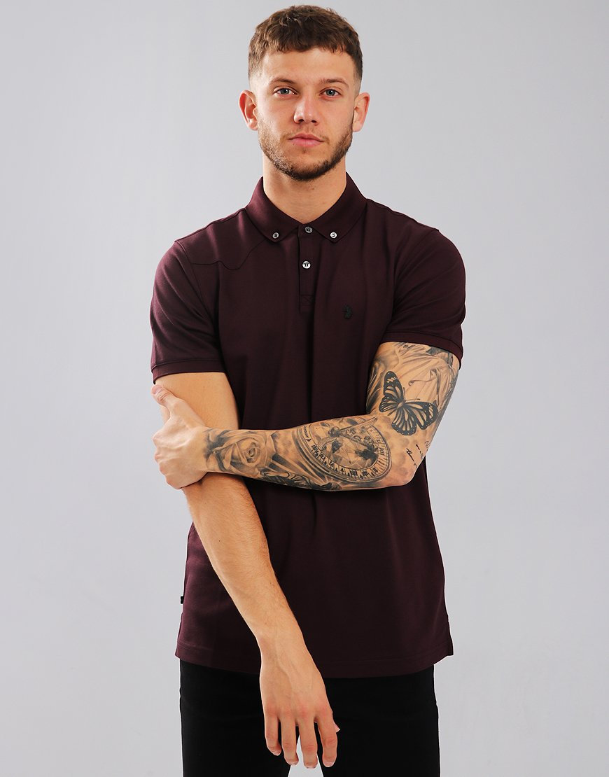 Luke 1977 Billiam Polo Shirt Dark Wine