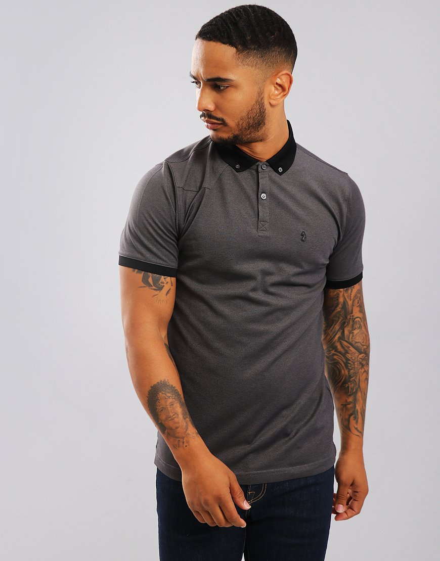 Luke 1977 Billiam Polo Shirt Marl Black
