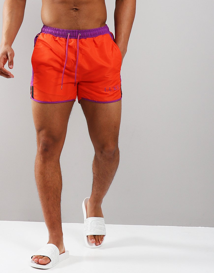 Luke 1977 Chopper Harris Swim Shorts Carbon Peach