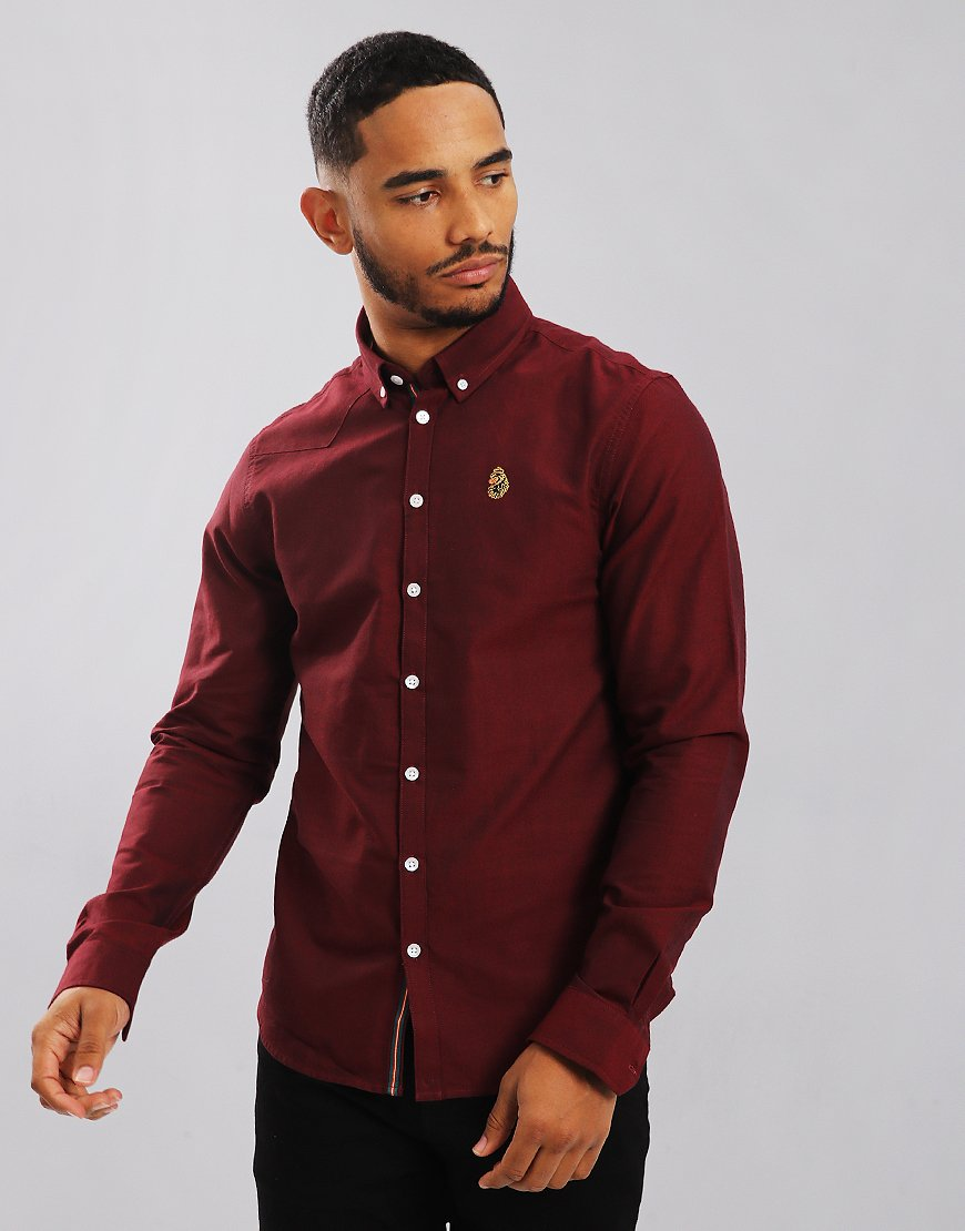 Luke 1977 Cuffys Call Long Sleeve Shirt Dark Red