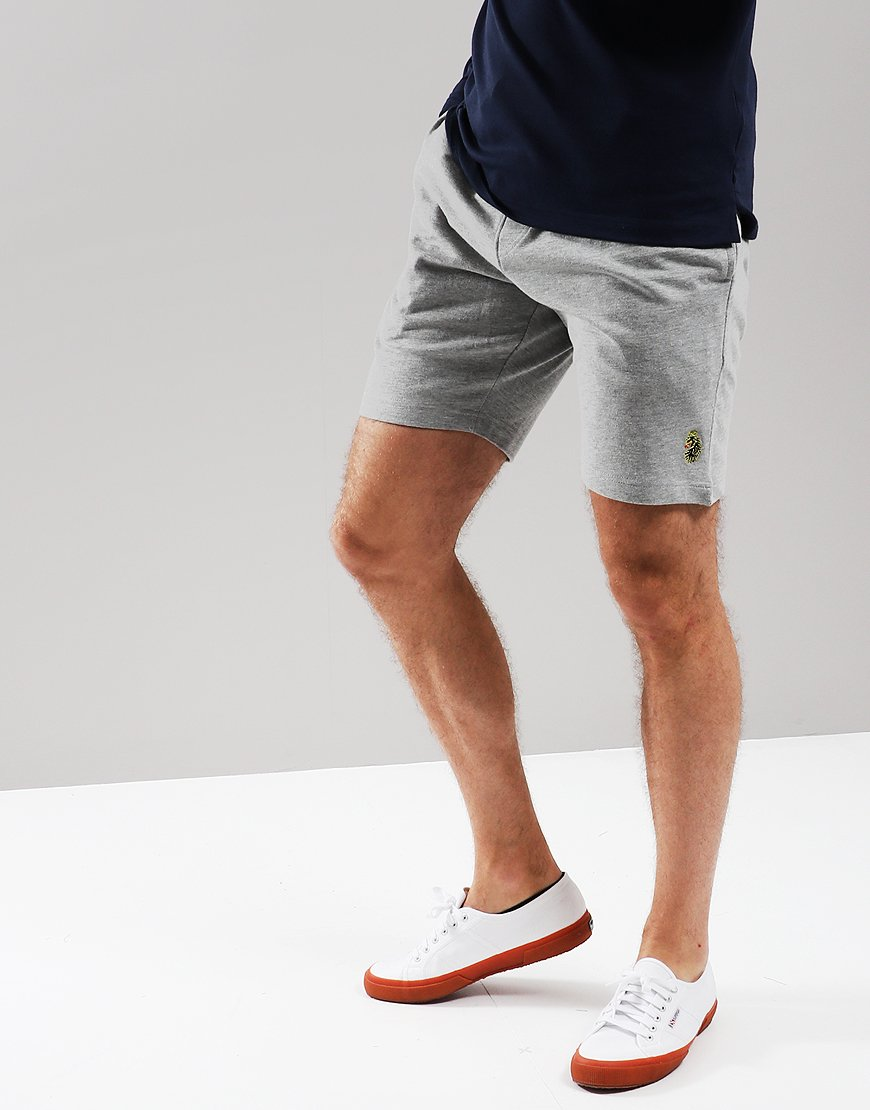Luke 1977 Get Shorty Fleece Shorts Mid Grey Marl