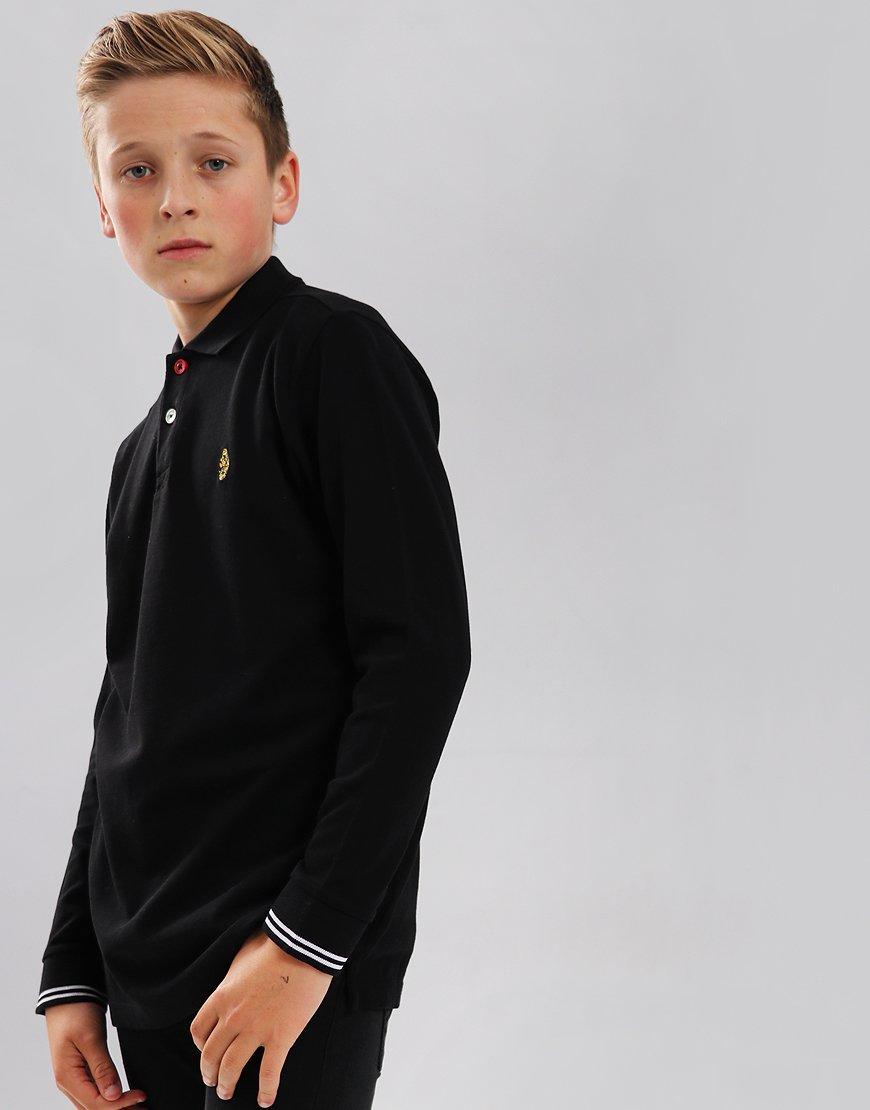 Luke Kids New Long Mead Polo Shirt Black
