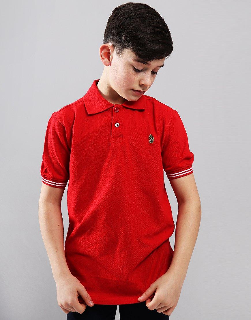 cbde93d25 Luke 1977 Kids New Mead Polo Shirt Red