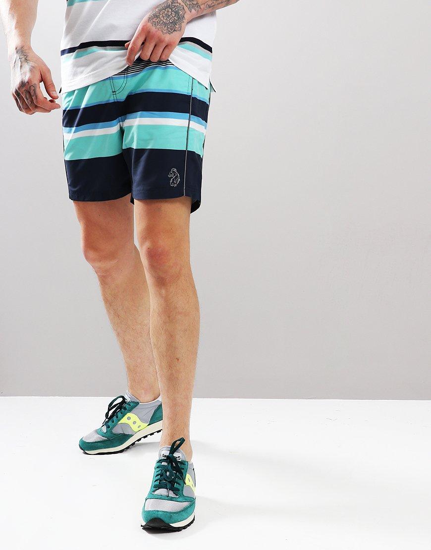 Luke 1977 Miami Swim Shorts Stripe Navy