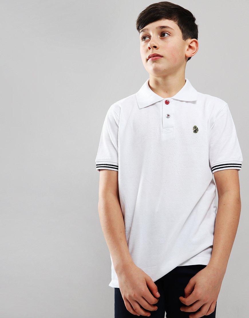 Luke 1977 Kids New Mead Polo Shirt White