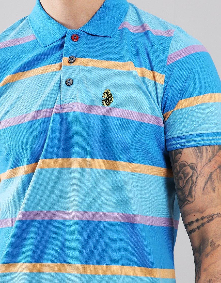 Luke 1977 New Mead Polo Shirt Blue Mix