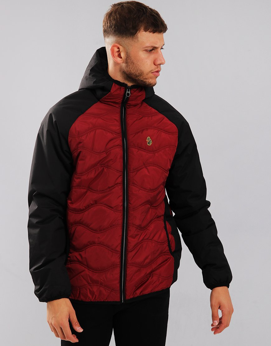 Luke 1977 Roundy Quilted Jacket Black/Deep Red