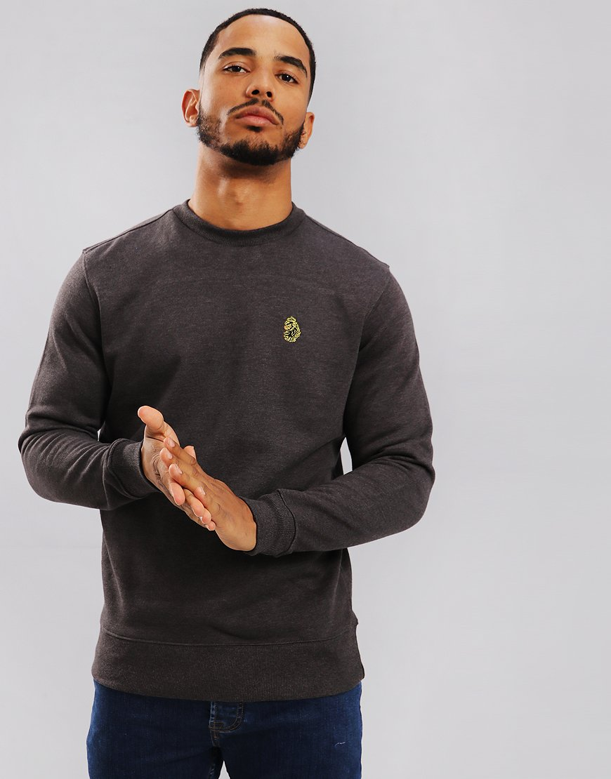 Luke 1977 The Runner Crew Sweat  Charcoal