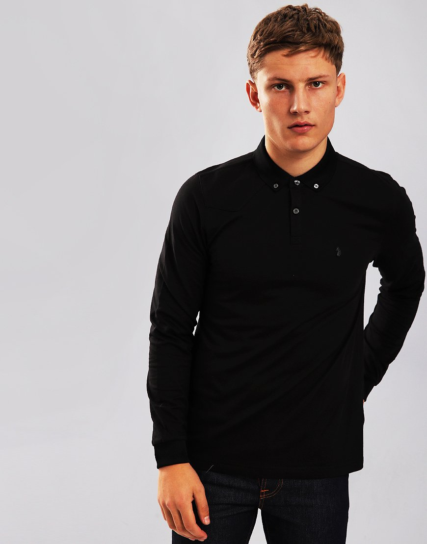 Luke 1977 Billiam Long Sleeve Polo Shirt Jet Black