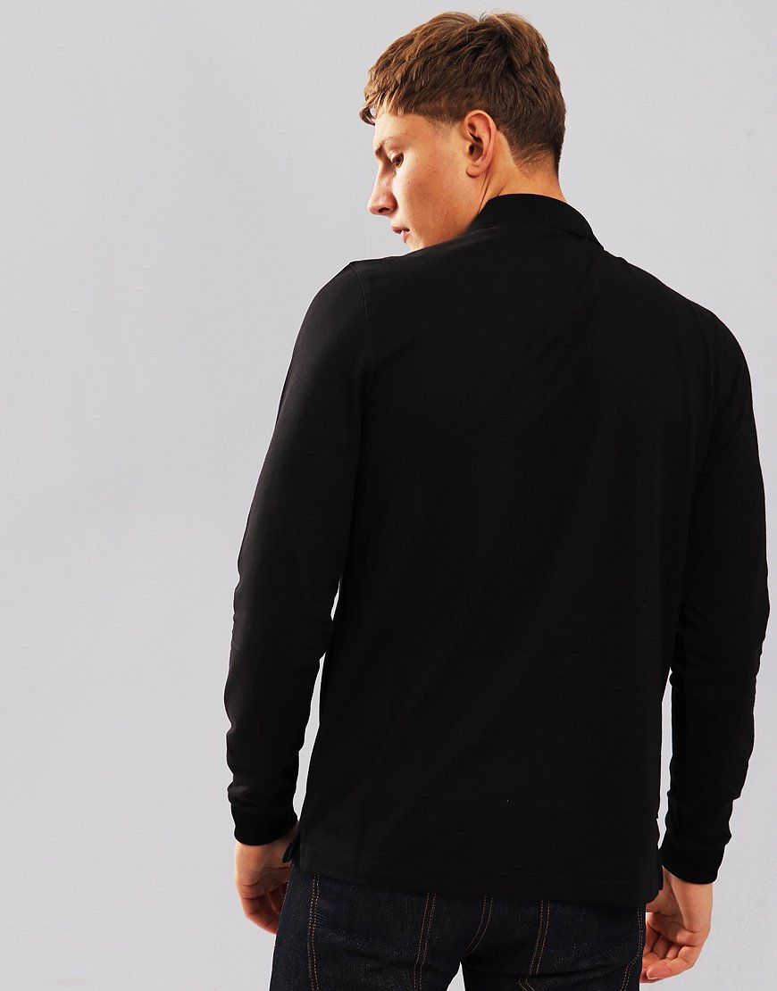 Luke 1977 Billiam Long Sleeve Polo Shirt Jet Black