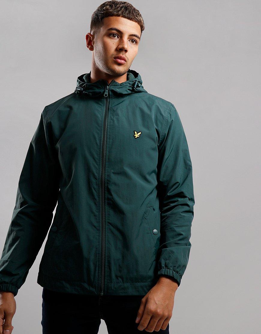 Lyle & Scott Micro Fleece Hooded Jacket Jade Green