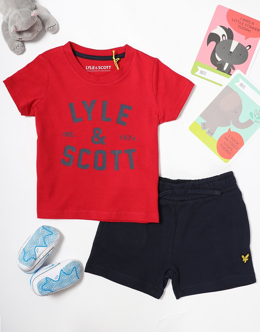 Lyle & Scott Baby T-Shirt/Short Set Tango Red
