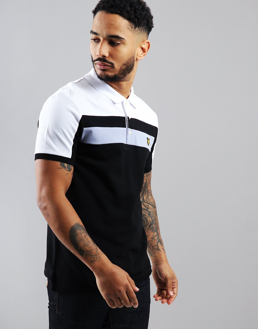 6fdbf788 Lyle & Scott Block Polo Shirt Black - Terraces Menswear