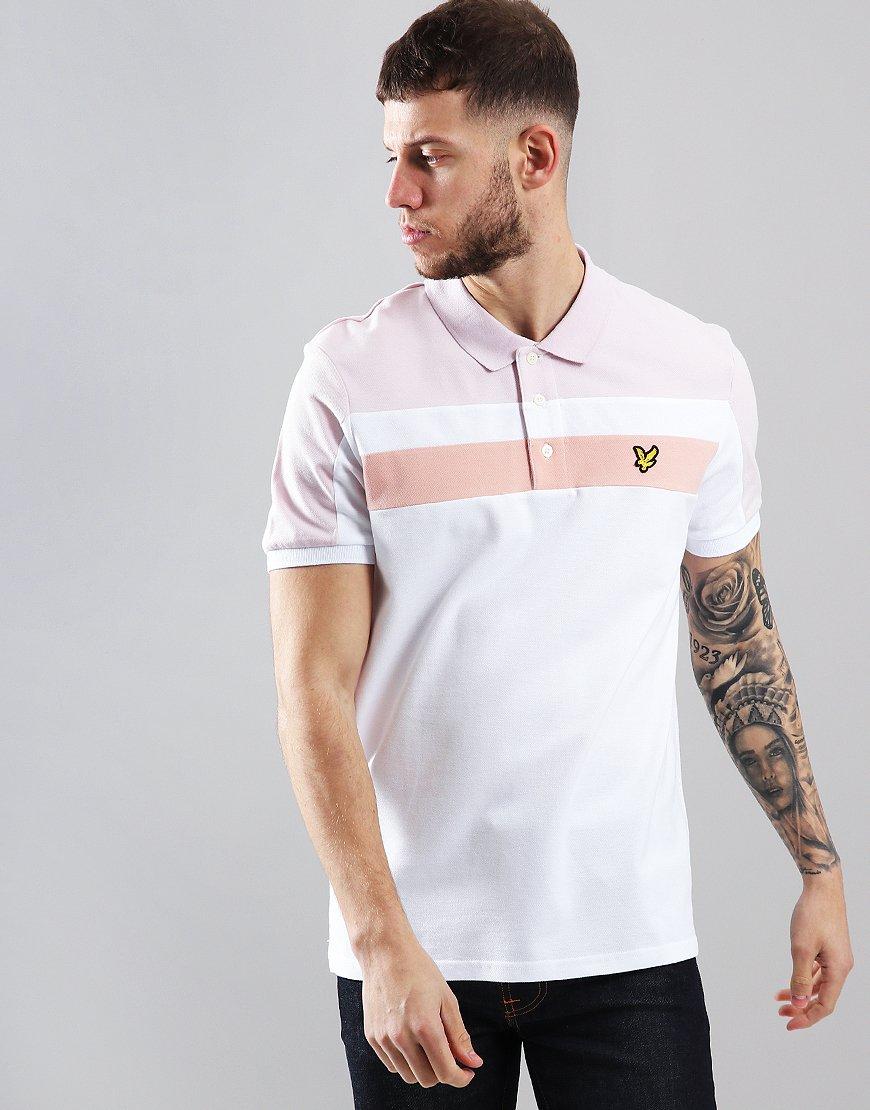 Lyle & Scott Block Polo Shirt White