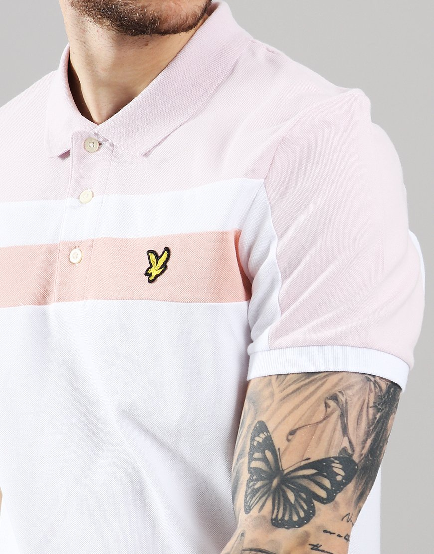 1960fbbc Lyle & Scott Block Polo Shirt White - Terraces Menswear